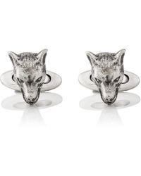 Gucci - Anger Forest Wolf-head Cufflinks - Lyst