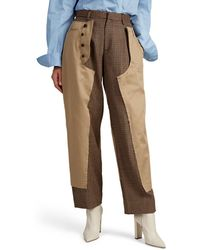 Kolor - Wool-inset Cotton Flat-front Trousers - Lyst