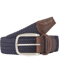 Barneys New York - Woven Elastic Belt - Lyst