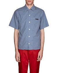 Prada - Geometric Cotton Bowling Shirt - Lyst