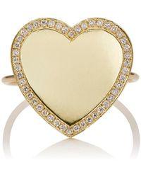 Jennifer Meyer - Heart Ring Size 6 - Lyst