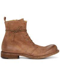 Ernesto Dolani - Washed Leather Lace-up Boots - Lyst