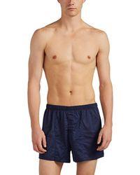 Hanro Cotton Sporty Boxers - Blue