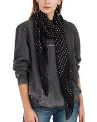 Saint Laurent - Star-motif Cashmere-silk Scarf - Lyst