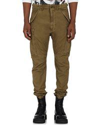 R13 - Drop-rise Cotton Canvas Cargo Trousers - Lyst