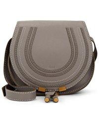 Chloé Marcie Small Leather Crossbody Saddle Bag