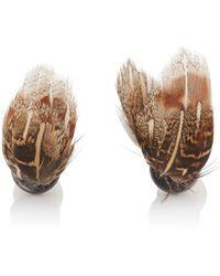 Samuel Gassmann - Feather & Mother-of-pearl Cufflinks - Lyst