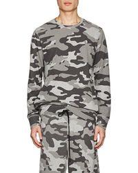 Barneys New York - Camouflage Terry Sweatshirt - Lyst