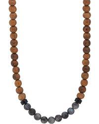 Caputo & Co. - Labradorite & Wood Beaded Necklace - Lyst
