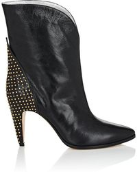 Givenchy - Studded-heel Leather Ankle Boots - Lyst