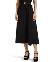Prada Bow-detailed Tech-crepe Skirt - Black