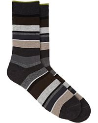 Barneys New York | Mixed-stripe Cotton-blend Mid | Lyst