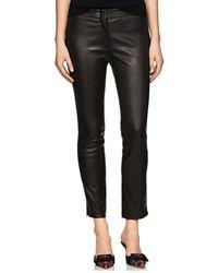 Derek Lam - Drake Leather Crop Trousers - Lyst