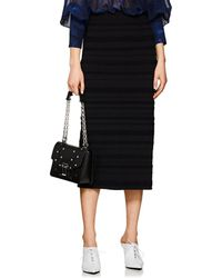 Proenza Schouler - Striped Jacquard Fitted Midi-skirt - Lyst