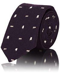 Alexander Olch - Rectangular-dot-pattern Wool Necktie - Lyst