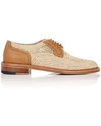 Robert Clergerie - Jeanine Raffia & Leather Oxfords - Lyst