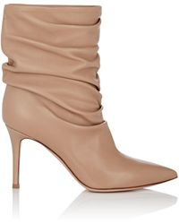 Gianvito Rossi - Cecile Leather Ankle Boots - Lyst