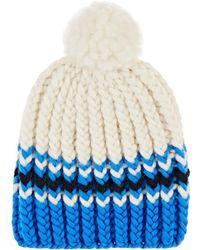 Wommelsdorff - Marte Striped Chunky Wool Beanie - Lyst
