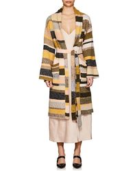 The Elder Statesman - Cashmere Striped Robe - Lyst