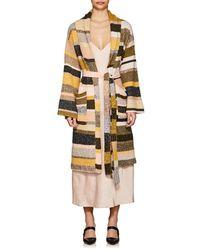 The Elder Statesman - Cashmere Striped Robe - Lyst