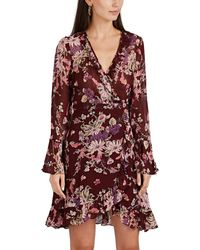 byTiMo - Floral Georgette Wrap Mini - Lyst
