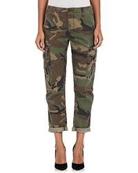 RE/DONE - Camouflage Crop Cargo Trousers - Lyst
