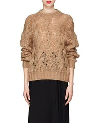 Prada - Cable-knit Mohair - Lyst