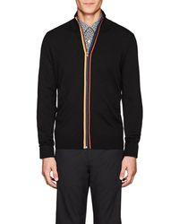 Paul Smith - Striped Wool Zip - Lyst