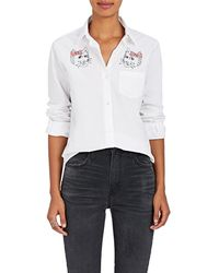 Jimi Roos - Embroidered Cotton Shirt - Lyst