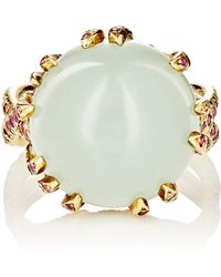 Sharon Khazzam - Aquamarine Cabochon Cocktail Ring - Lyst