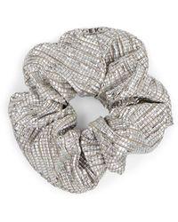 Eugenia Kim Mallory Textured Scrunchie - Metallic