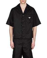 Prada - Nylon Gabardine Bowling Shirt - Lyst