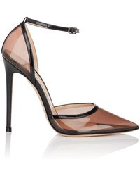 Gianvito Rossi - Sabin Pvc & Patent Leather Ankle-strap Pumps - Lyst