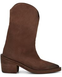 Marsèll - Brushed Suede Ankle Boots - Lyst