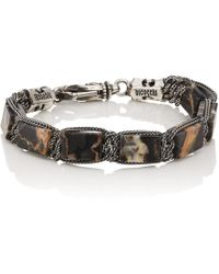 Emanuele Bicocchi - Portoro Marble Beaded Bracelet - Lyst