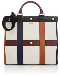 Sonia Rykiel - Cindy Leather-trimmed Canvas Tote Bag - Lyst