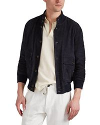 Eleventy - Suede Bomber Jacket - Lyst
