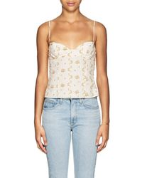 Brock Collection - Oboe Floral Cotton Crop Top - 112 - Lyst