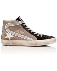Golden Goose Deluxe Brand - Slide Canvas & Suede Sneakers - Lyst