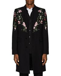 Alexander McQueen - Rose Embroidery Coat - Lyst