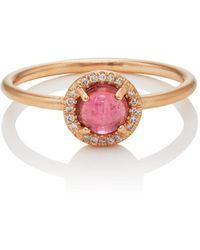 Irene Neuwirth - Pink Tourmaline & White Diamond Ring - Lyst