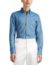 Thom Browne - Cotton Oxford Cloth Shirt - Lyst