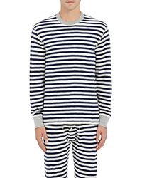 Sleepy Jones - Keith Striped Cotton Shirt - Lyst