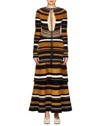 Proenza Schouler - Multi-striped Keyhole Dress - Lyst