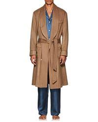 Barneys New York Wool-cashmere Felt Robe - Natural