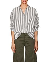 Nili Lotan - Fulton Striped Cotton Poplin Shirt - Lyst