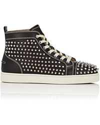 Christian Louboutin - Louis Flat Leather Sneakers - Lyst
