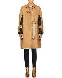 Sacai - Wool Melton Deconstructed Topcoat - Lyst