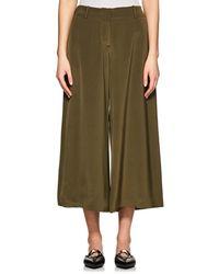 Ji Oh - Mercer Silk Wide-leg Pants - Lyst
