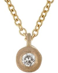 Tate - White Diamond Pendant Necklace - Lyst